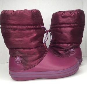 Crocs winter fleece lined boots.